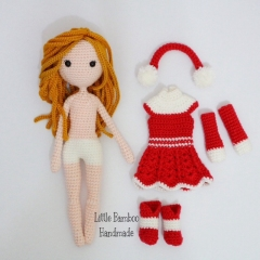Chloe The Red Dress Girl amigurumi pattern by Little Bamboo Handmade