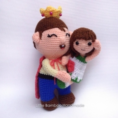 I Love Dad amigurumi pattern by Little Bamboo Handmade