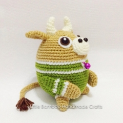 Ox The 12 Zodiac Egg amigurumi by Little Bamboo Handmade