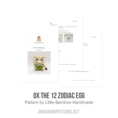 Ox The 12 Zodiac Egg amigurumi pattern by Little Bamboo Handmade