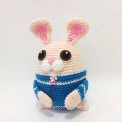 Rabbit The 12 Zodiac Egg amigurumi pattern by Little Bamboo Handmade