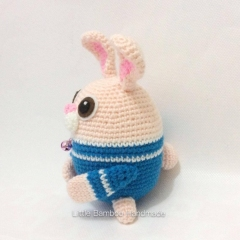 Rabbit The 12 Zodiac Egg amigurumi by Little Bamboo Handmade