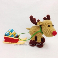 Reindeer And Sleigh  amigurumi pattern by Little Bamboo Handmade