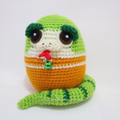 Snake The 12 Zodiac Egg amigurumi pattern by Little Bamboo Handmade