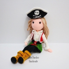 Sophia The Pirate Girl amigurumi by Little Bamboo Handmade