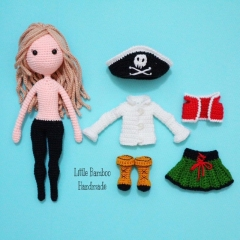 Sophia The Pirate Girl amigurumi pattern by Little Bamboo Handmade