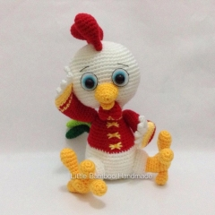 The Prosperity Rooster amigurumi by Little Bamboo Handmade