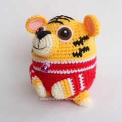 Tiger The 12 Zodiac Egg amigurumi by Little Bamboo Handmade