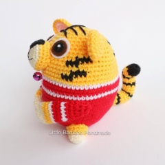 Tiger The 12 Zodiac Egg amigurumi pattern by Little Bamboo Handmade