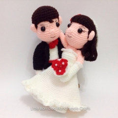 Wedding Couple amigurumi by Little Bamboo Handmade