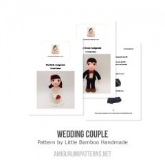 Wedding Couple amigurumi pattern by Little Bamboo Handmade