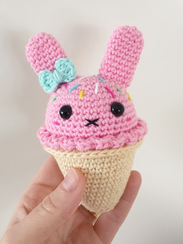 Bunny Ice Cream amigurumi pattern - Amigurumipatterns.net