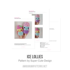 Ice Lollies amigurumi pattern by Super Cute Design