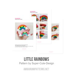 Little Rainbows amigurumi pattern by Super Cute Design