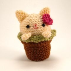 Cozy Cat Trio amigurumi by Critterbeans