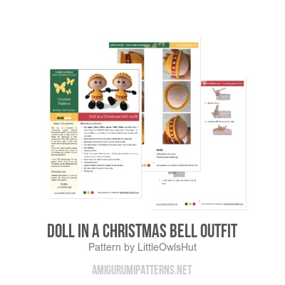 Doll in a Christmas Bell outfit amigurumi pattern by LittleOwlsHut  sc 1 st  Amigurumipatterns.net & Doll in a Christmas Bell outfit amigurumi pattern ...