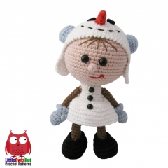Doll in a Snowman outfit amigurumi by LittleOwlsHut