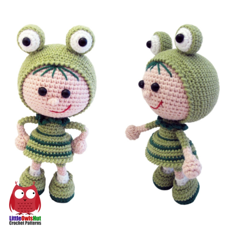 Doll in a frog outfit amigurumi pattern ...