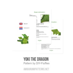 Yoki the Dragon  amigurumi pattern by DIY Fluffies