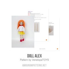 Doll Alex amigurumi pattern by VenelopaTOYS