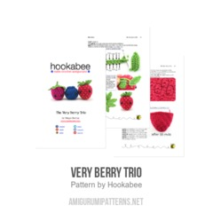 Very Berry Trio amigurumi pattern by Hookabee