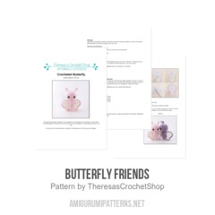 Butterfly Friends amigurumi pattern by Theresas Crochet Shop