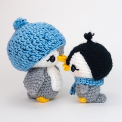 Mama and Baby Penguin amigurumi by Theresas Crochet Shop
