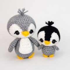 Mama and Baby Penguin amigurumi pattern by Theresas Crochet Shop