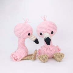 Pink Flamingo amigurumi by Theresas Crochet Shop