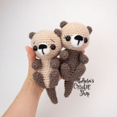 Sea Otters amigurumi by Theresas Crochet Shop