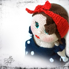 Miss Rockabilly Sue amigurumi pattern by Miss Hook