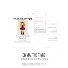 Emma, the Timid amigurumi pattern by Fox in the snow designs