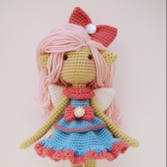 Shaylee, the Fun-loving Fairy amigurumi pattern by Fox in the snow designs