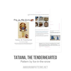 Tatiana, the Tenderhearted amigurumi pattern by Fox in the snow designs