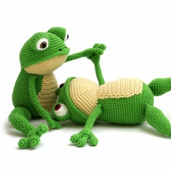 Advanced Amigurumi Shapes : Fritz the Frog amigurumi pattern - Amigurumipatterns.net