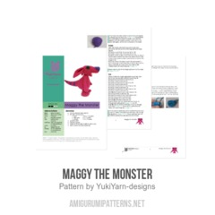 Maggy the Monster amigurumi pattern by YukiYarn Designs