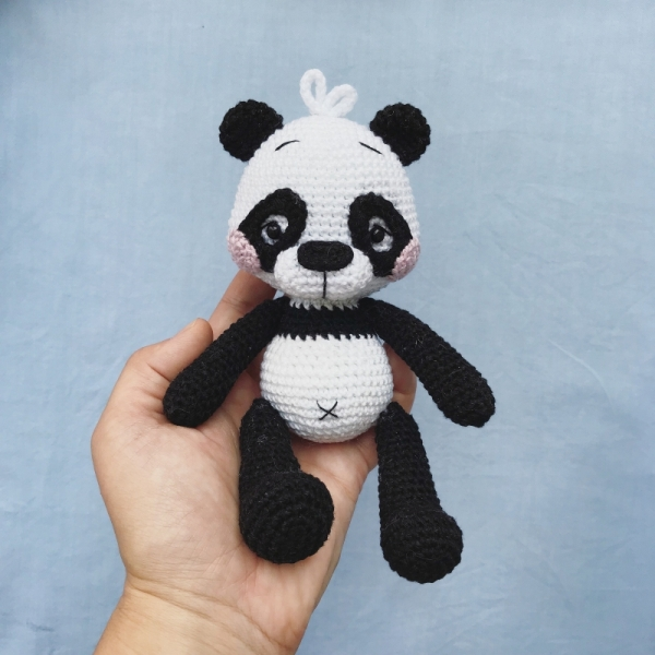 Panda Amigurumi (tutorial) - YouTube | 600x600