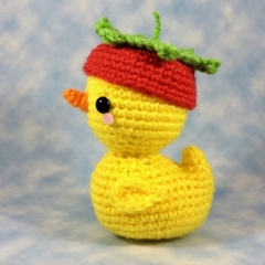 Pudgy Ducky in his Strawberry Hat! amigurumi pattern by Sugar Pop Crochet