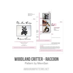 Woodland Critter - Raccoon amigurumi pattern by MevvSan