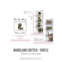 Woodland Critter - Turtle amigurumi pattern by MevvSan