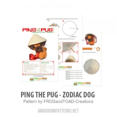 Ping the Pug - Zodiac Dog amigurumi by FROGandTOAD Creations
