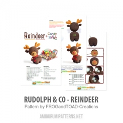 Rudolph & Co - Reindeer amigurumi pattern by FROGandTOAD Creations