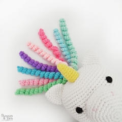 Mimi the Friendly Unicorn amigurumi pattern by Bunnies and Yarn