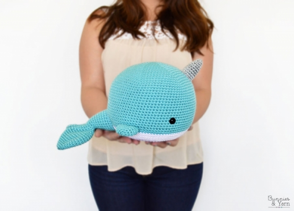 Norbert the Whale or Narwhal amigurumi pattern by Theresas Crochet ... | 432x600