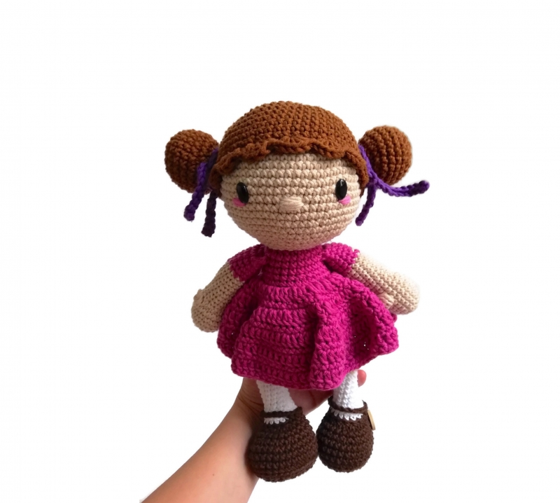 RUBY Crochet Doll - Amigurumi doll - Stuffed doll - Handmade doll ... | 718x800
