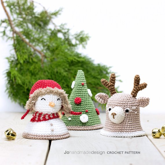 Christmas Bells Images.Christmas Bells The Reindeer The Snowman And The Tree Amigurumipatterns Net