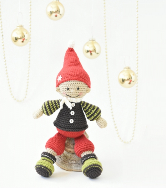 jester the christmas gnome amigurumi pattern by lilleliis - Christmas Gnome