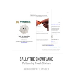 Sally the Snowflake amigurumi pattern by FreshStitches