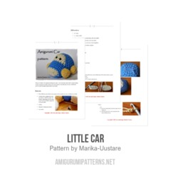 Little car amigurumi pattern by Marika Uustare