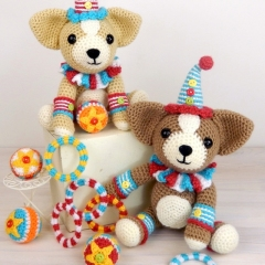 Diggory and Dave the Dancing Dogs amigurumi pattern by Janine Holmes at Moji-Moji Design